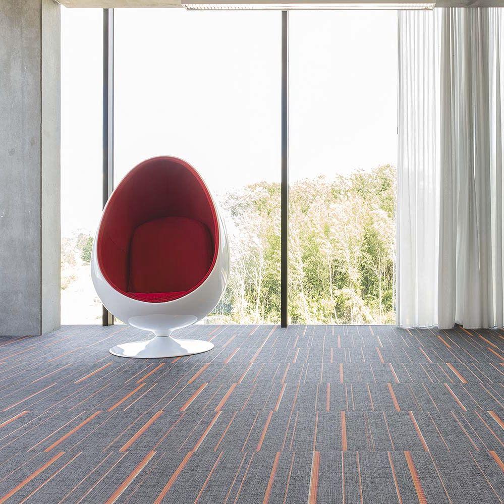 Tile Flooring Synthetic Vinyl Residential Stripes Moonless