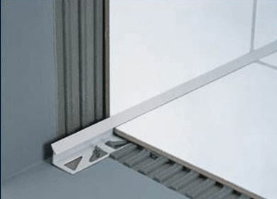 PVC Edge Trim / For Tiles / Inside Corner   DURACOVE
