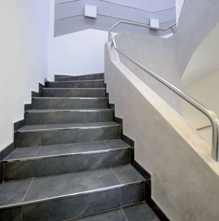Stainless Steel Stair Nosing. FLORENTOSTEP DURAL France