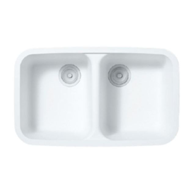 Double kitchen sink / Solid Surface / commercial - A2311 - Staron