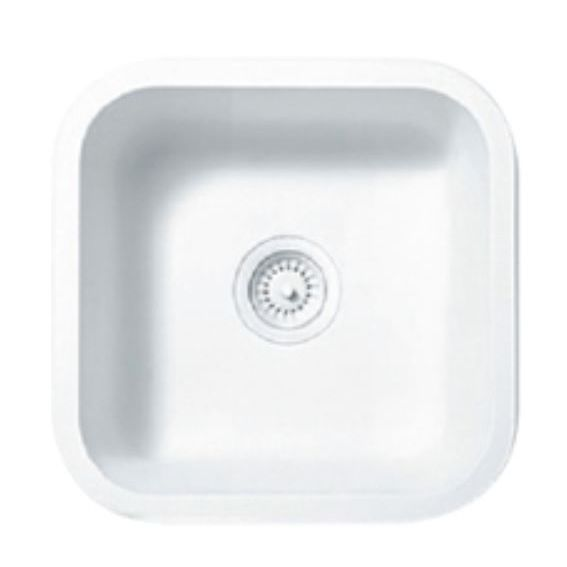Single Bowl Kitchen Sink / Solid Surface / Square / Commercial   A1181