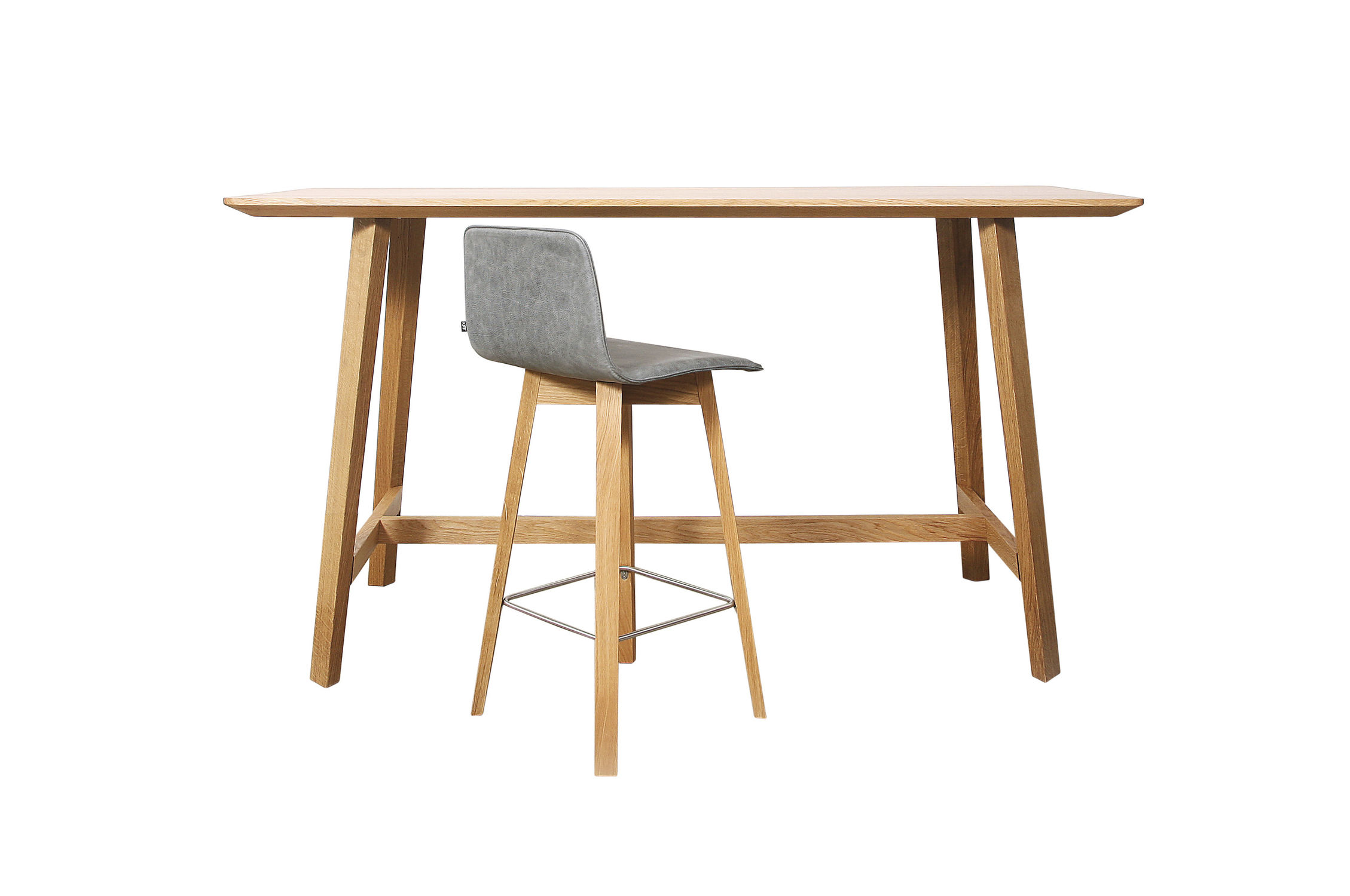 ... Contemporary High Bar Table / Wooden / Solid Wood / Rectangular ...