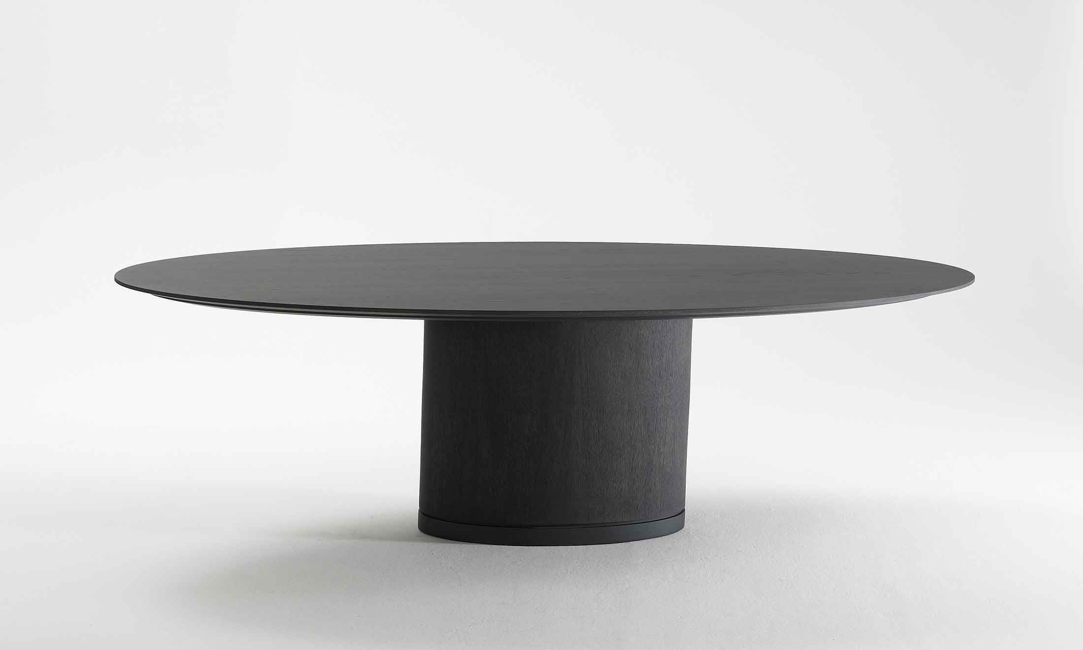 Oval conference table - Contemporary Conference Table Wooden Oval Round Spazio By Willem Van Ast