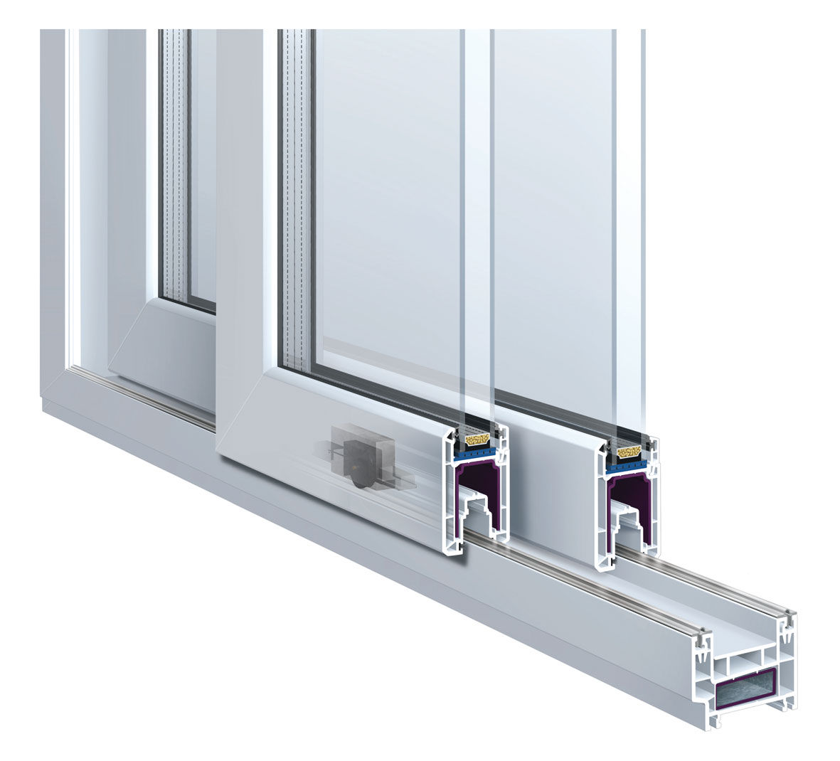 Sliding Patio Door Aluminum Double Glazed Premiline