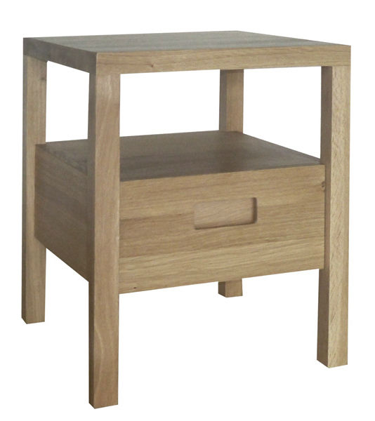 Contemporary bedside table / oak / square / with drawer DALIDA I COCO-MAT