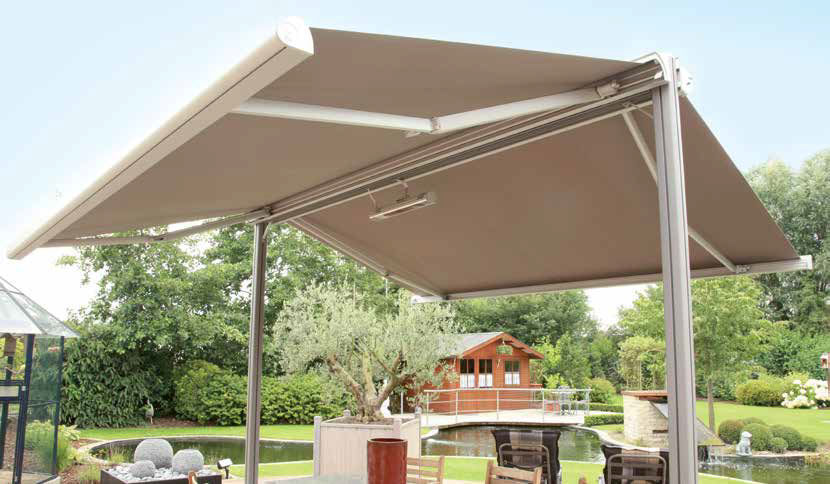 Free Standing Awning / Manual / Double Slope   TWINSTOR