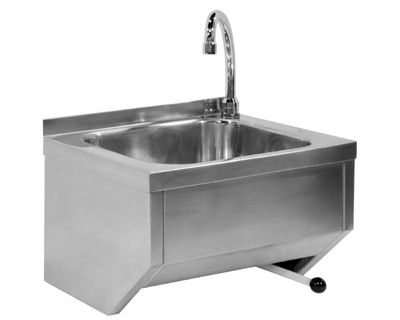 Single-bowl kitchen sink / stainless steel / commercial - WASHBASIN ...