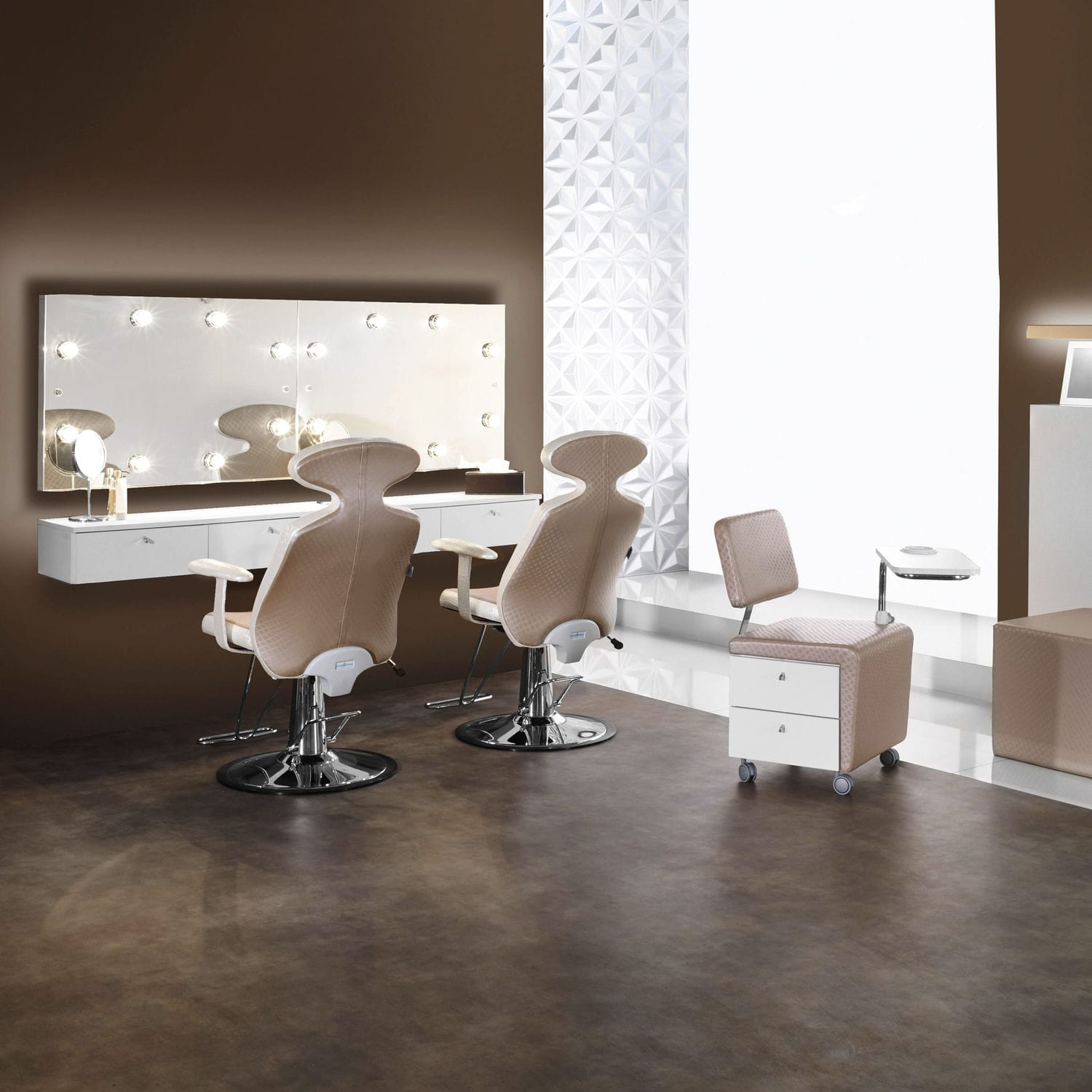 Contemporary Dressing Table Wooden Wall Mounted For Hairdressers LAS VEGAS Medical