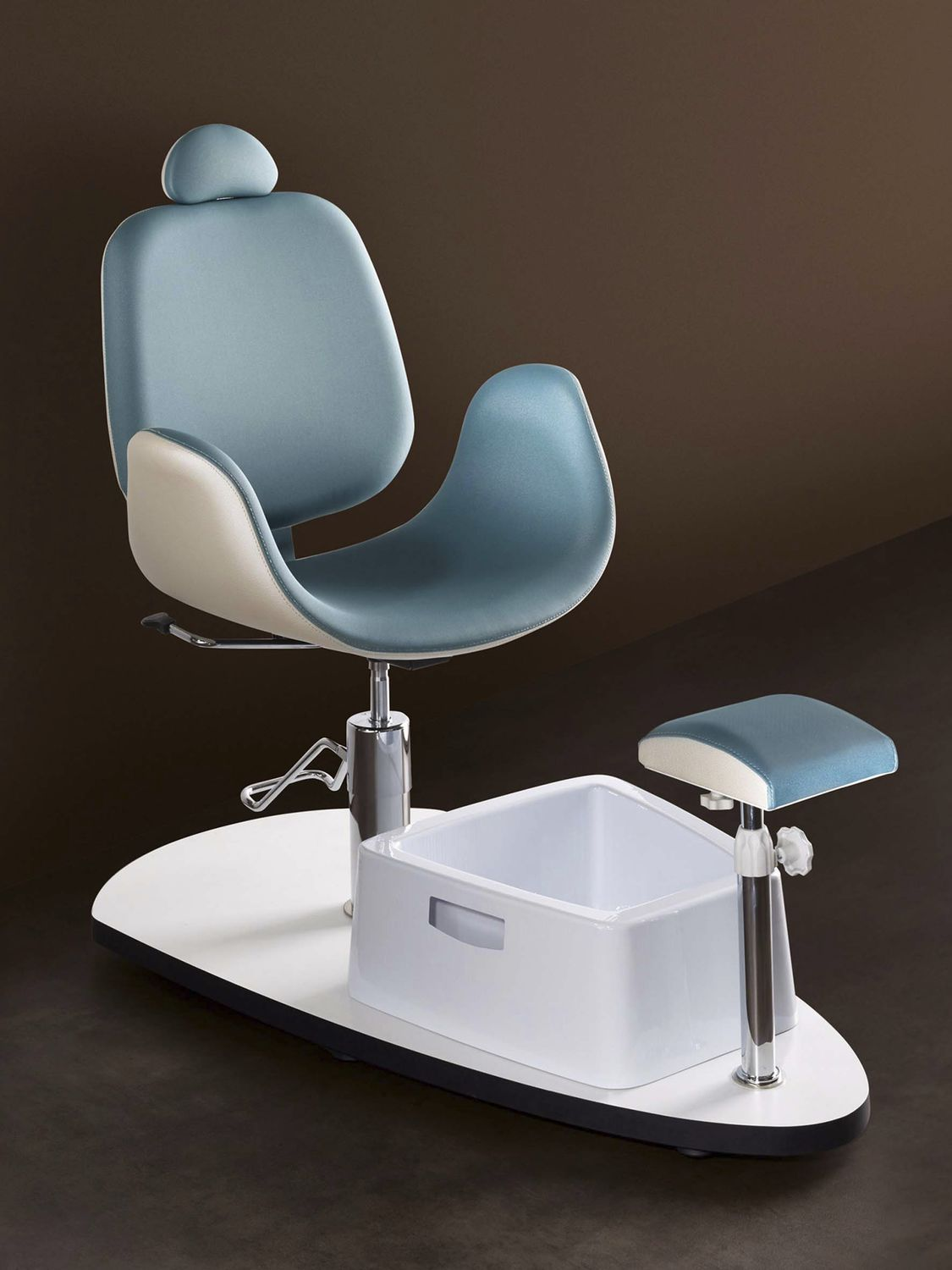 synthetic leather pedicure chair / with hydraulic pump / with footrest / white ... & Synthetic leather pedicure chair / with hydraulic pump / with ...