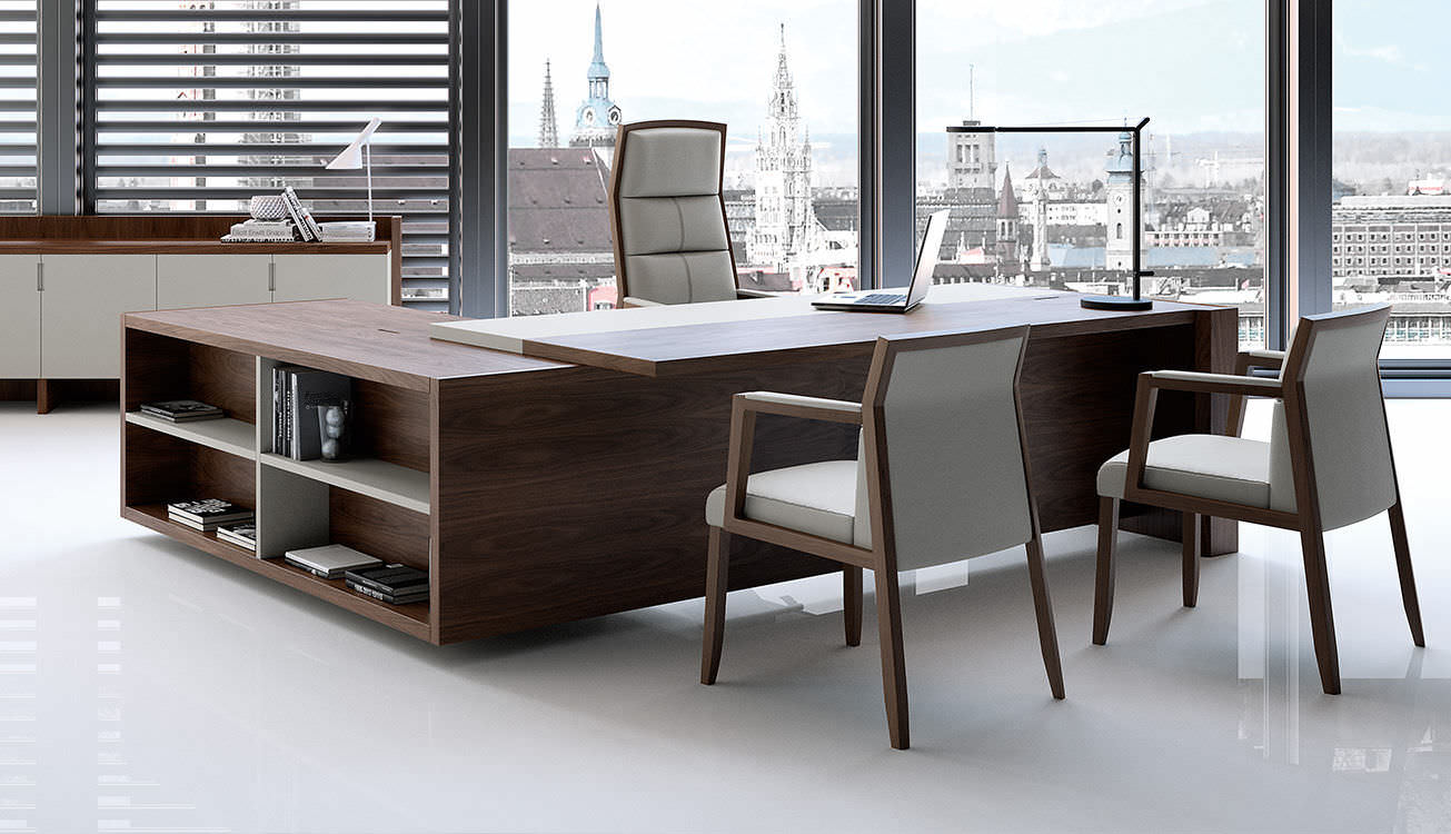 Executive desk wooden contemporary commercial FREEPORT by