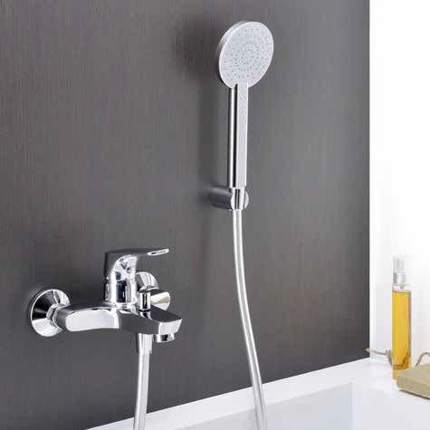 Bathtub Mixer Tap / Shower / Wall Mounted / Metal   SPL 72801 CR