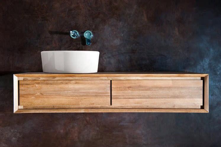 Charmant ... Wall Hung Washbasin Cabinet / Walnut / Teak / Contemporary ...