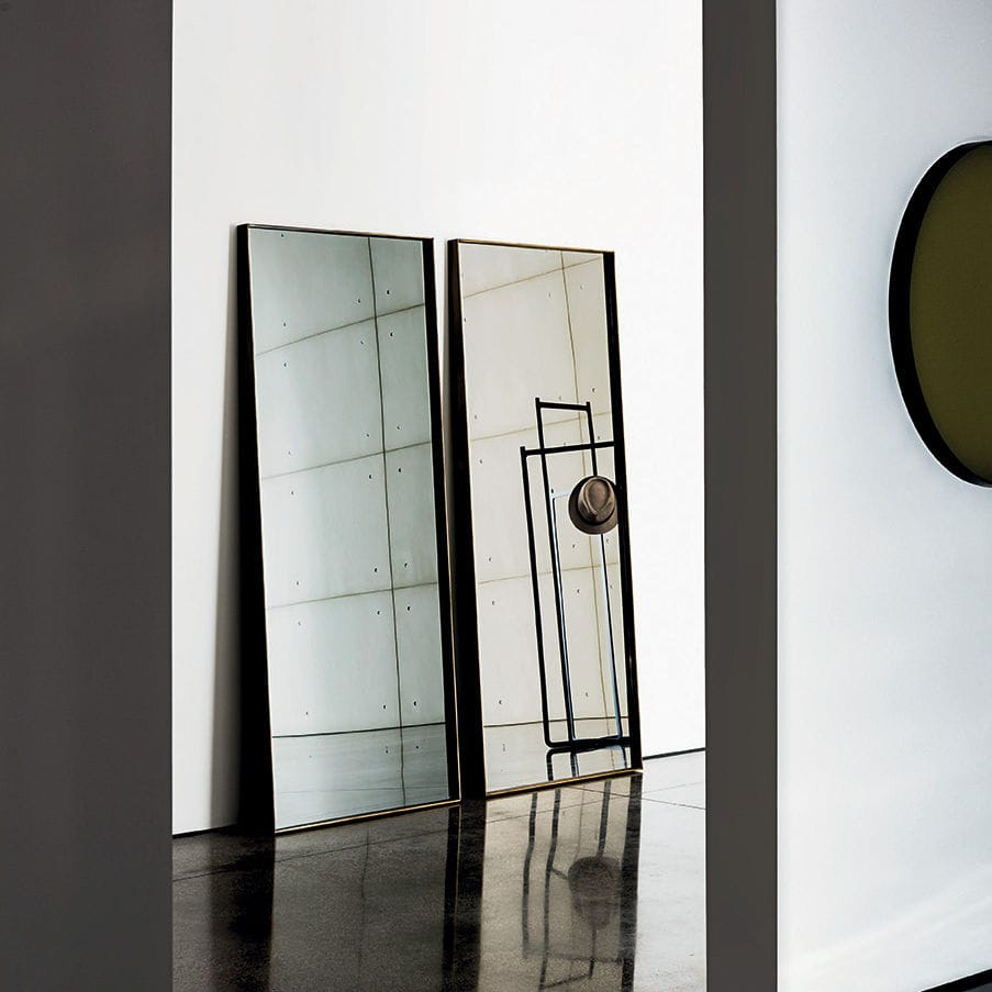 table mirror / contemporary / rectangular / metal - visual ... - Specchio Free Standing Temira Sovet