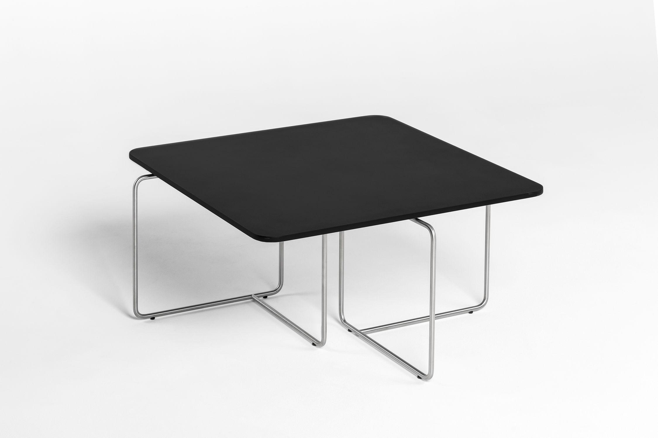 Contemporary coffee table oak wood veneer rectangular