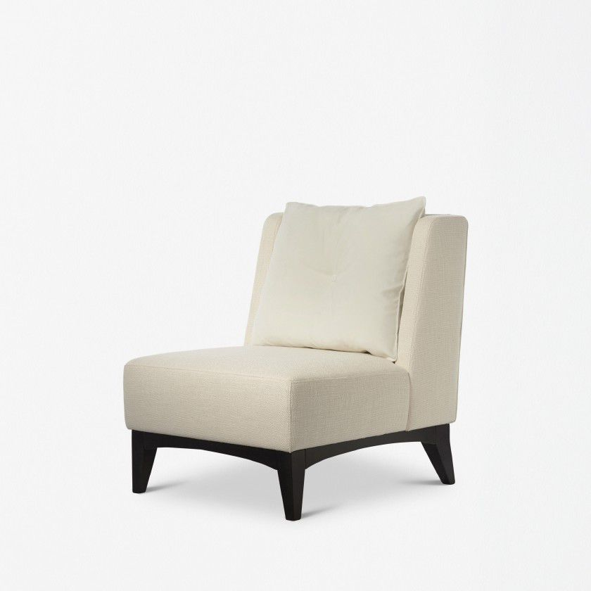 Contemporary Fireside Chair / Fabric / Leather   COLLINS