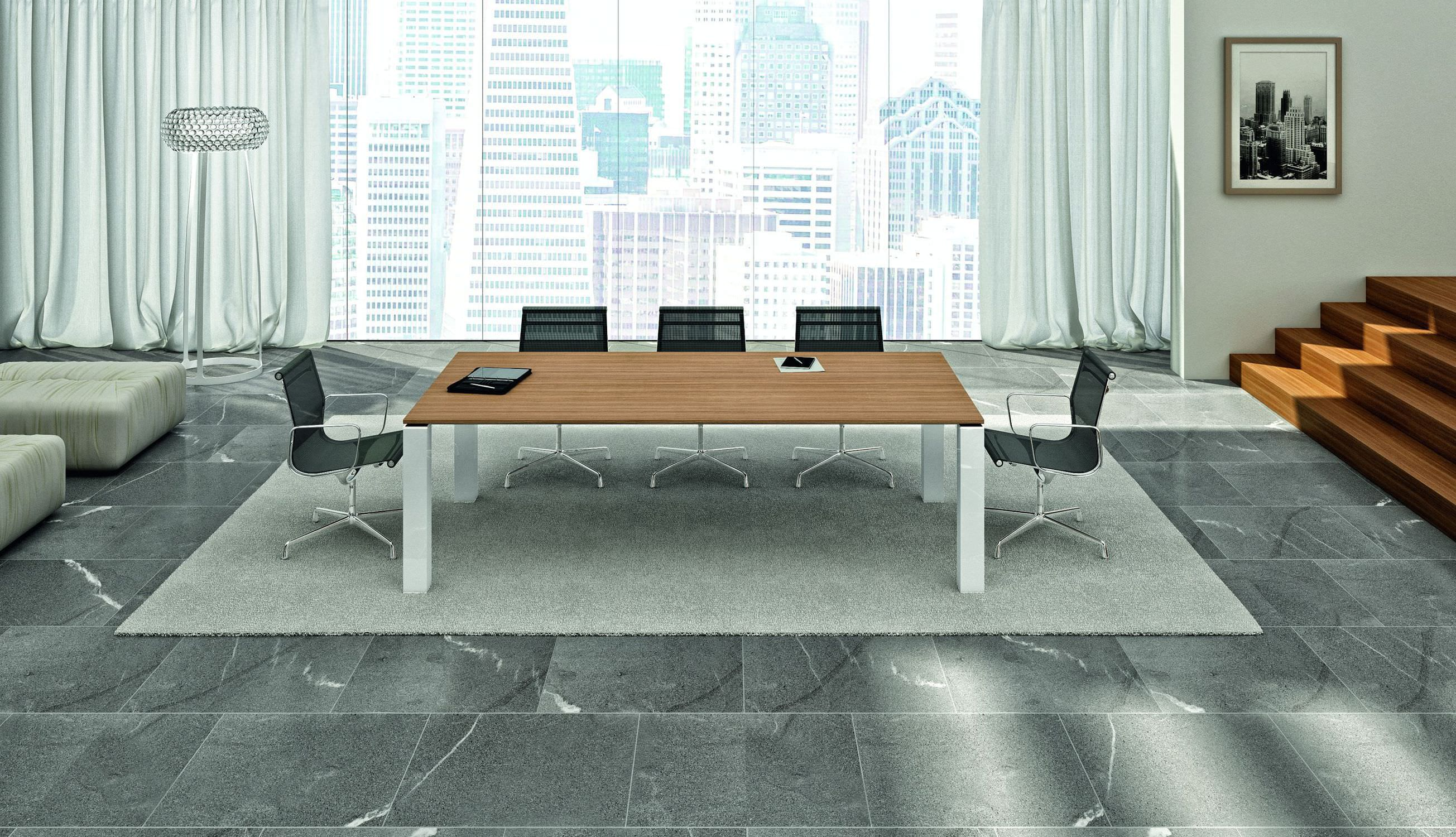 Contemporary side table wood veneer rectangular 100