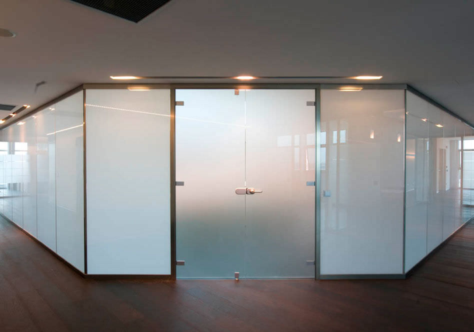 construction panel / separating / for partition walls - lcd - vetroin
