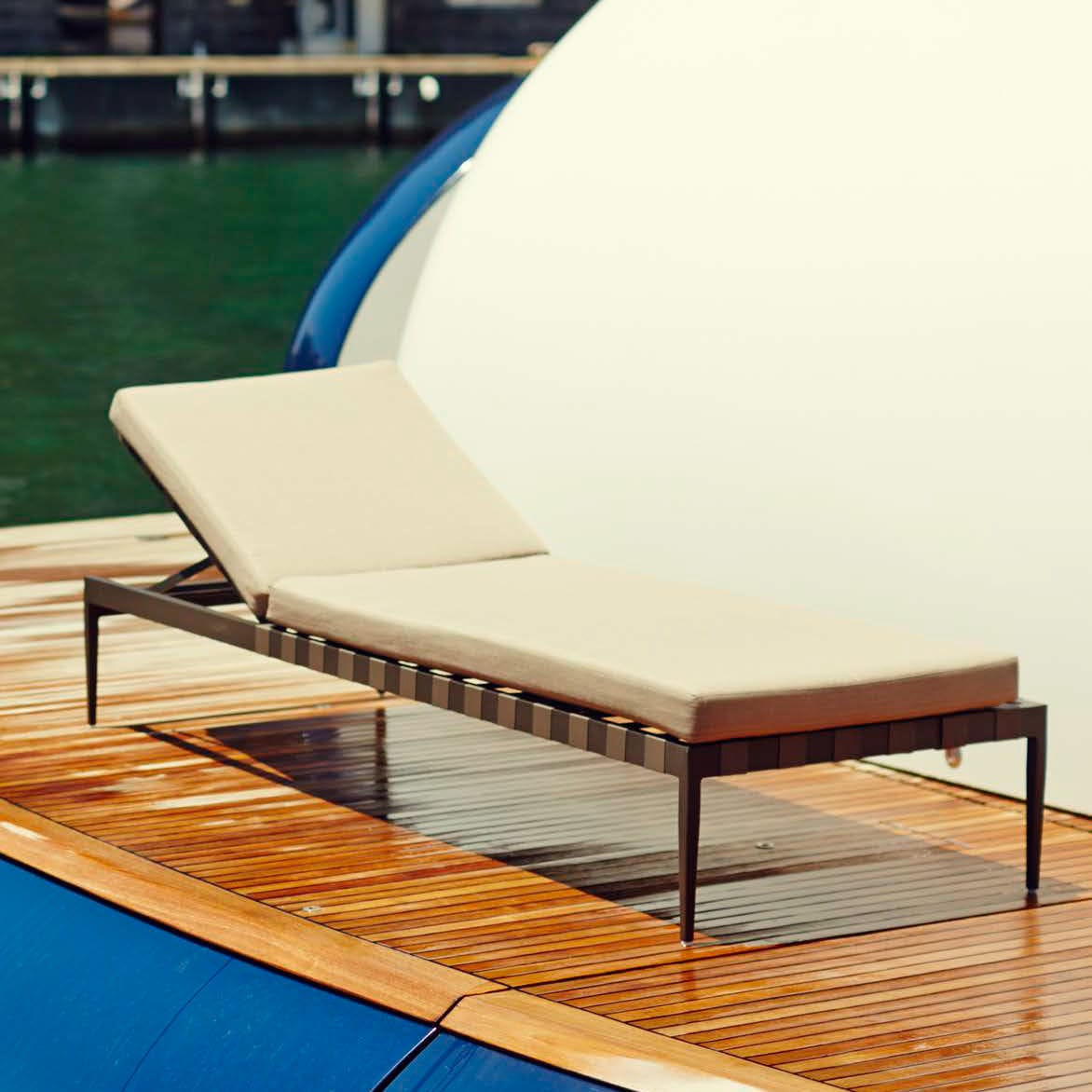 Contemporary chaise longue / aluminum / outdoor / garden - PIER by ... - Contemporary chaise longue / aluminum / outdoor / garden PIER by Nicholas &  Harrison Condos Harbour ...