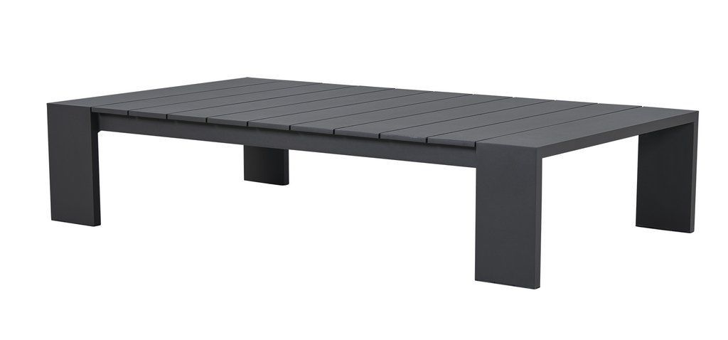 Contemporary Coffee Table Aluminum Rectangular Garden HAYMAN - Black aluminum outdoor coffee table