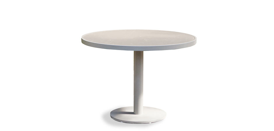 Great ... Contemporary Pedestal Table / Glass / Aluminum / Round PIER By Nicholas  U0026 Harrison Condos Harbour