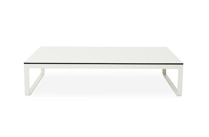 Contemporary Coffee Table Hpl Aluminum Rectangular Clovelly Harbour Outdoor