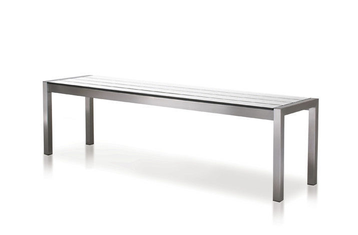 Strange Garden Bench Contemporary Stainless Steel Hpl Soho Cjindustries Chair Design For Home Cjindustriesco