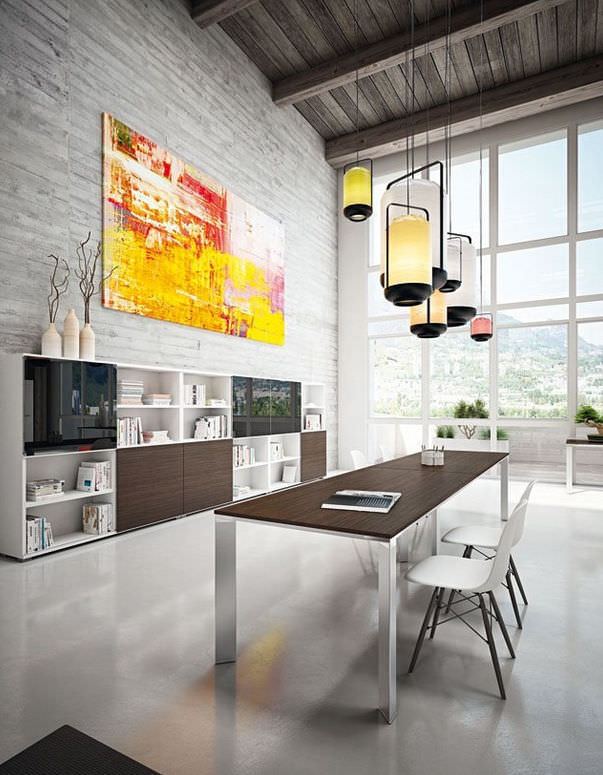 Contemporary boardroom table / metal / rectangular - DV901 VERTIGO ...
