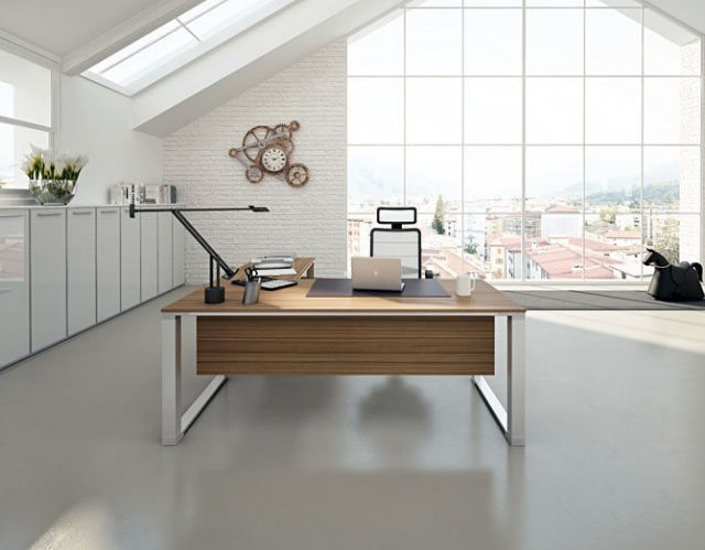 Executive desk / wooden / metal / contemporary - DV901 VERTIGO by ...
