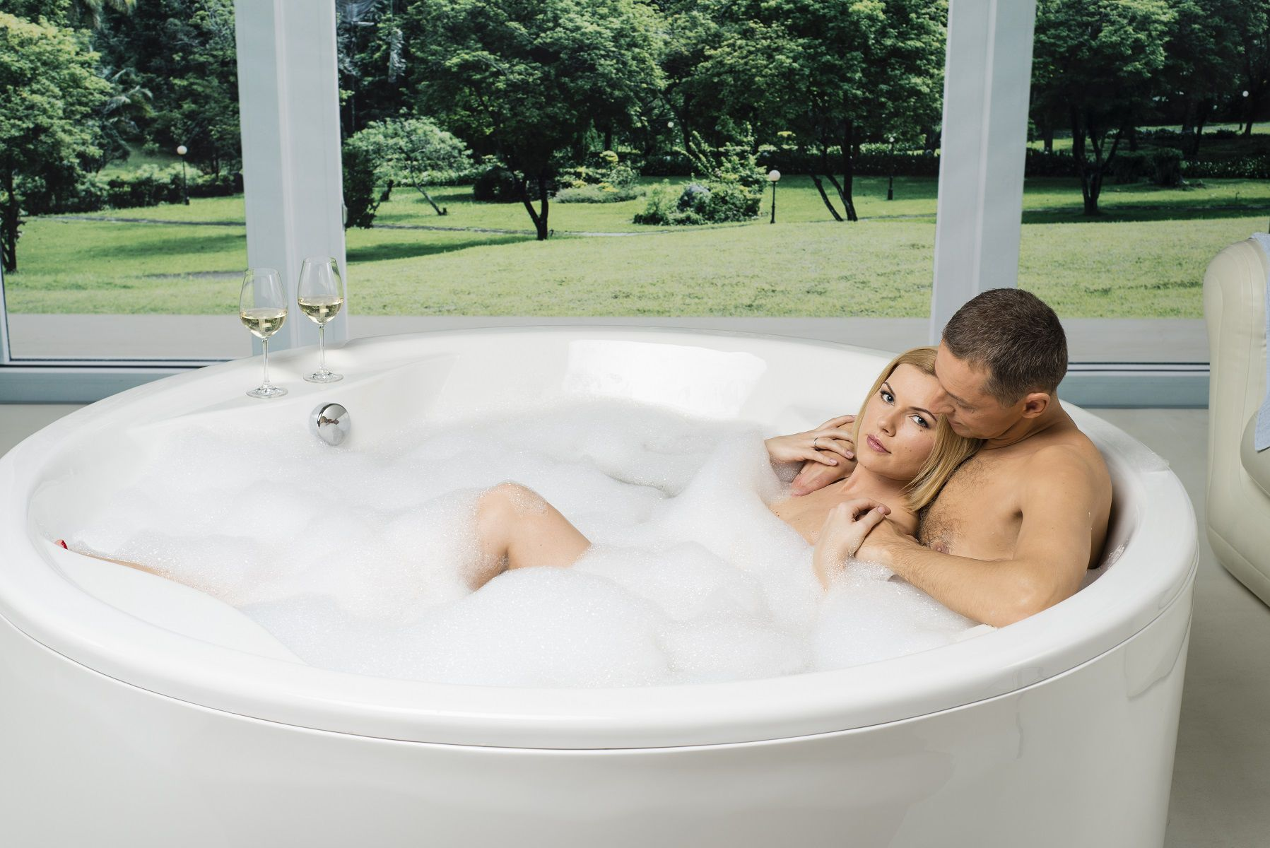 Free Standing Bathtub / Round / Acrylic / Deep ALLEGRA WHT AQUATICA  PLUMBING GROUP ...