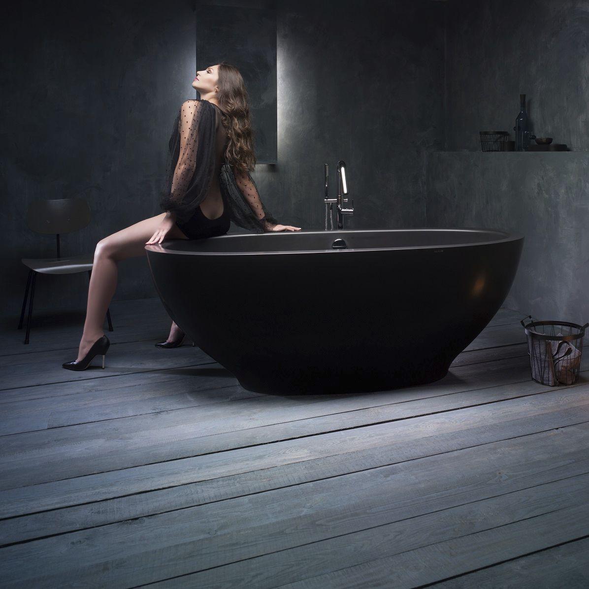 Free-standing bathtub / oval / Solid Surface / stone - KAROLINA ...