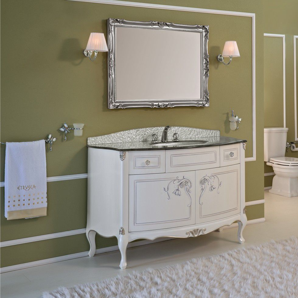 Free Standing Washbasin Cabinet / Laminate / Classic / With Mirror   TIFFANY