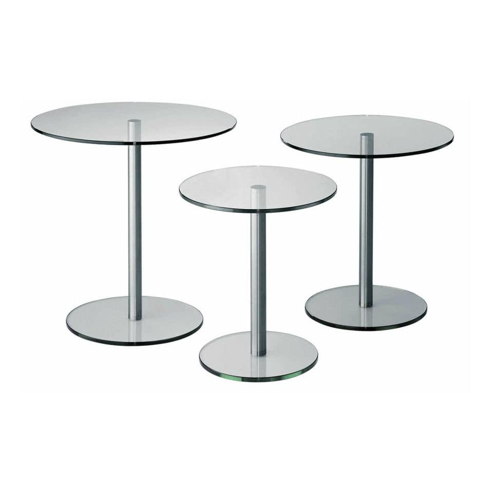Attrayant Contemporary Side Table / Glass / Round   CIRCLE OCCASIONAL By Paul Visser