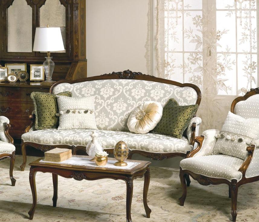 Classic Sofa Fabric Seater Multicolor CARLOTTA - Classic sofa styles