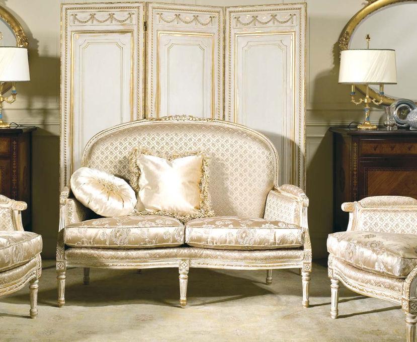 Gentil Classic Sofa / Fabric / 2 Person / Beige   RIALTO