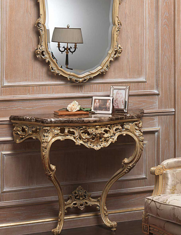 Classic Sideboard Table / Marble / Rectangular   920