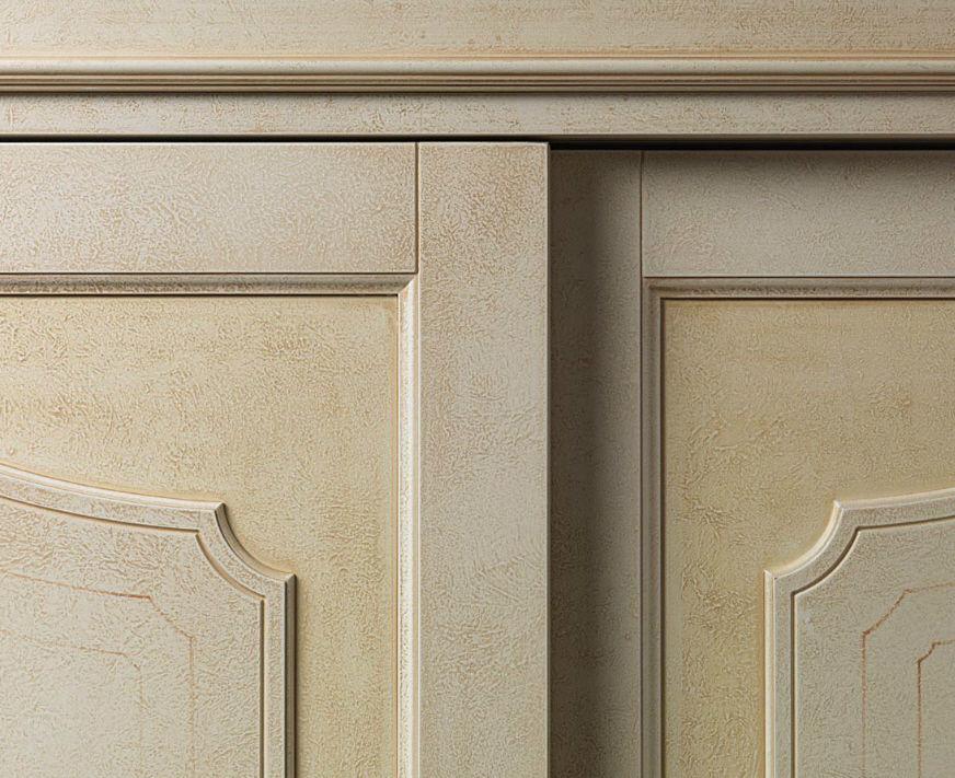 Traditional Wardrobe Wooden Sliding Door Botticelli