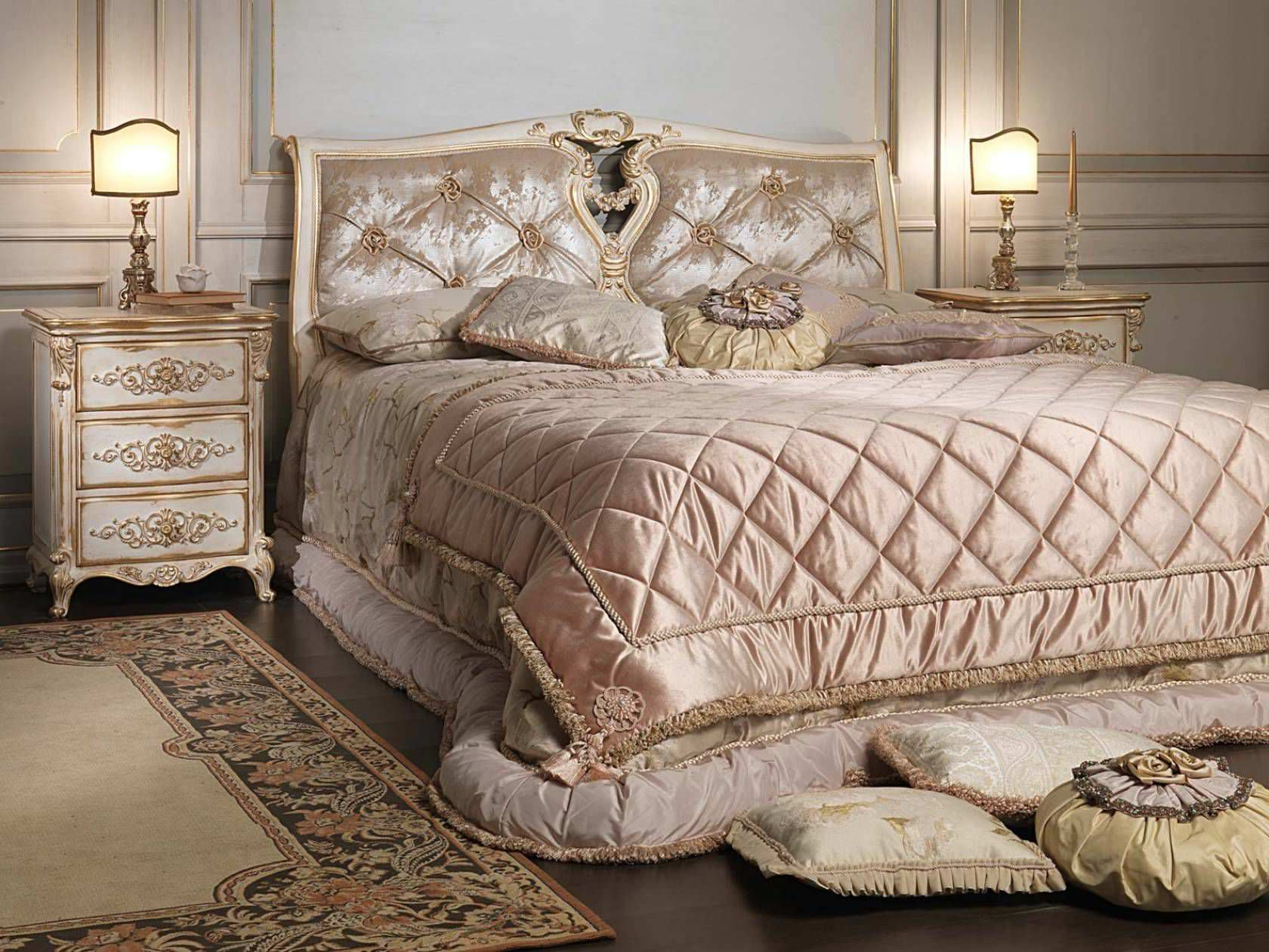Double bed   Louis XVI style   wooden WHITE AND GOLD VIMERCATI MEDA  LUXURY CLASSIC FURNITURE  Double bed   Louis XVI style   wooden   WHITE AND GOLD   VIMERCATI  . Louis Xvi Style Furniture For Sale. Home Design Ideas