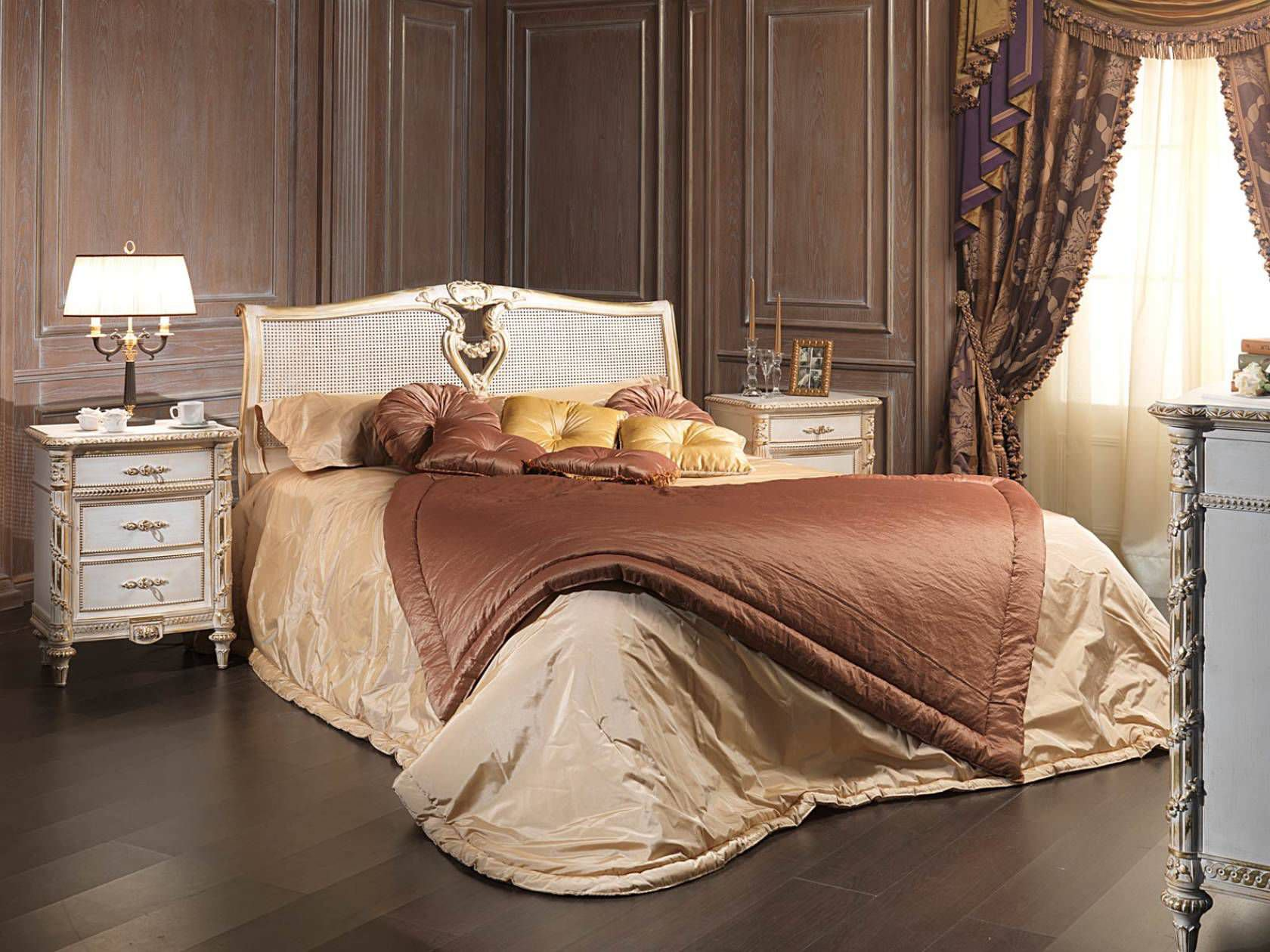 Louis xvi bedroom furniture -  Double Bed Louis Xvi Style Wooden White And Gold Vimercati Meda Luxury Classic Furniture