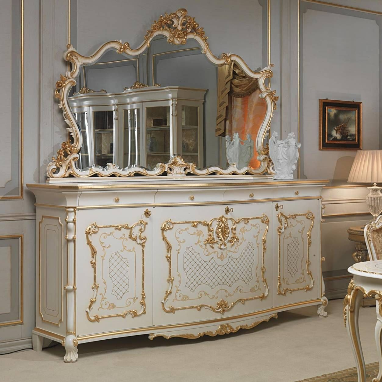 Gentil Louis XV Style Sideboard / Wooden   VENICE