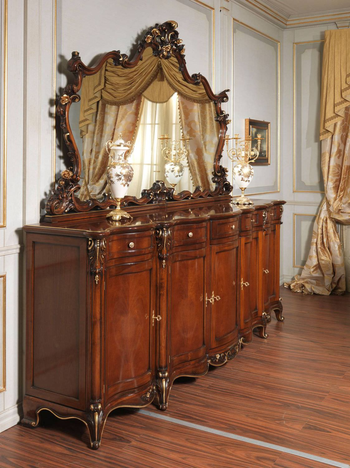 Louis XV style chest of drawers wooden brown LOUIS XV