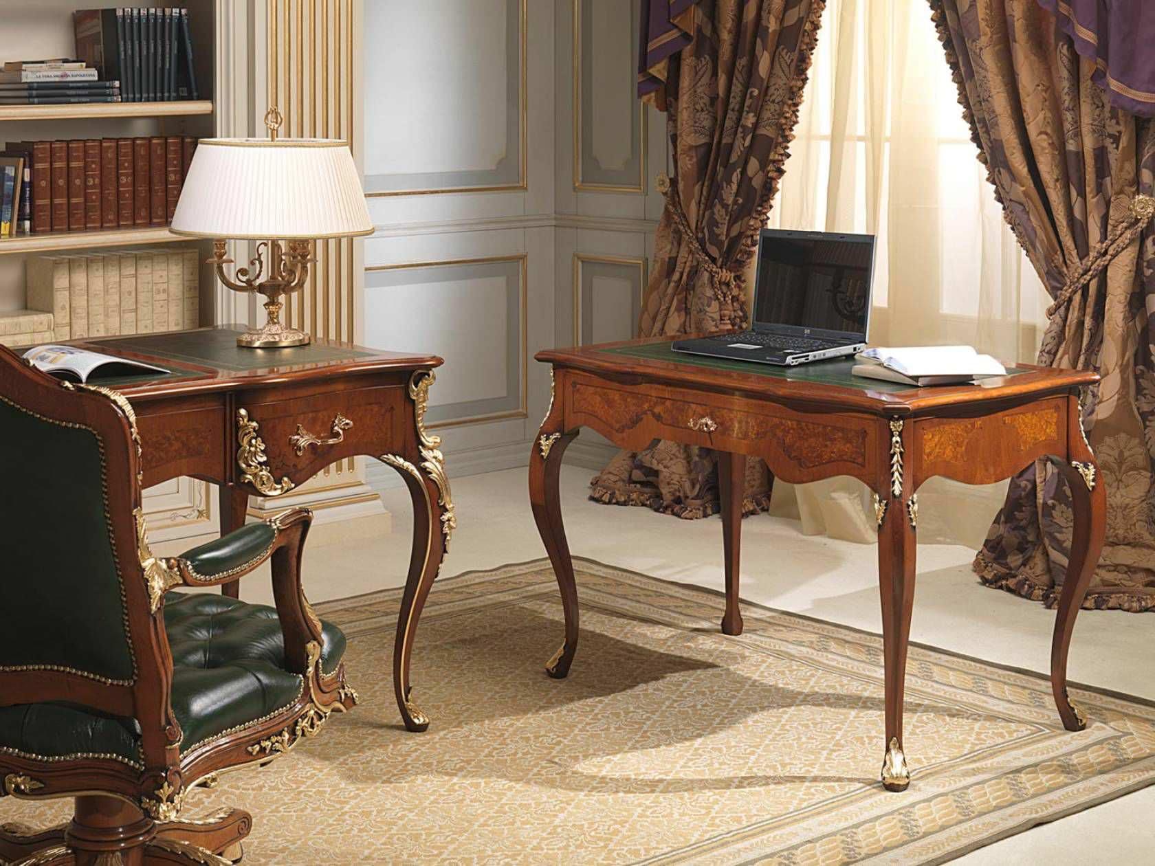 Wooden Desk Louis Xv Style
