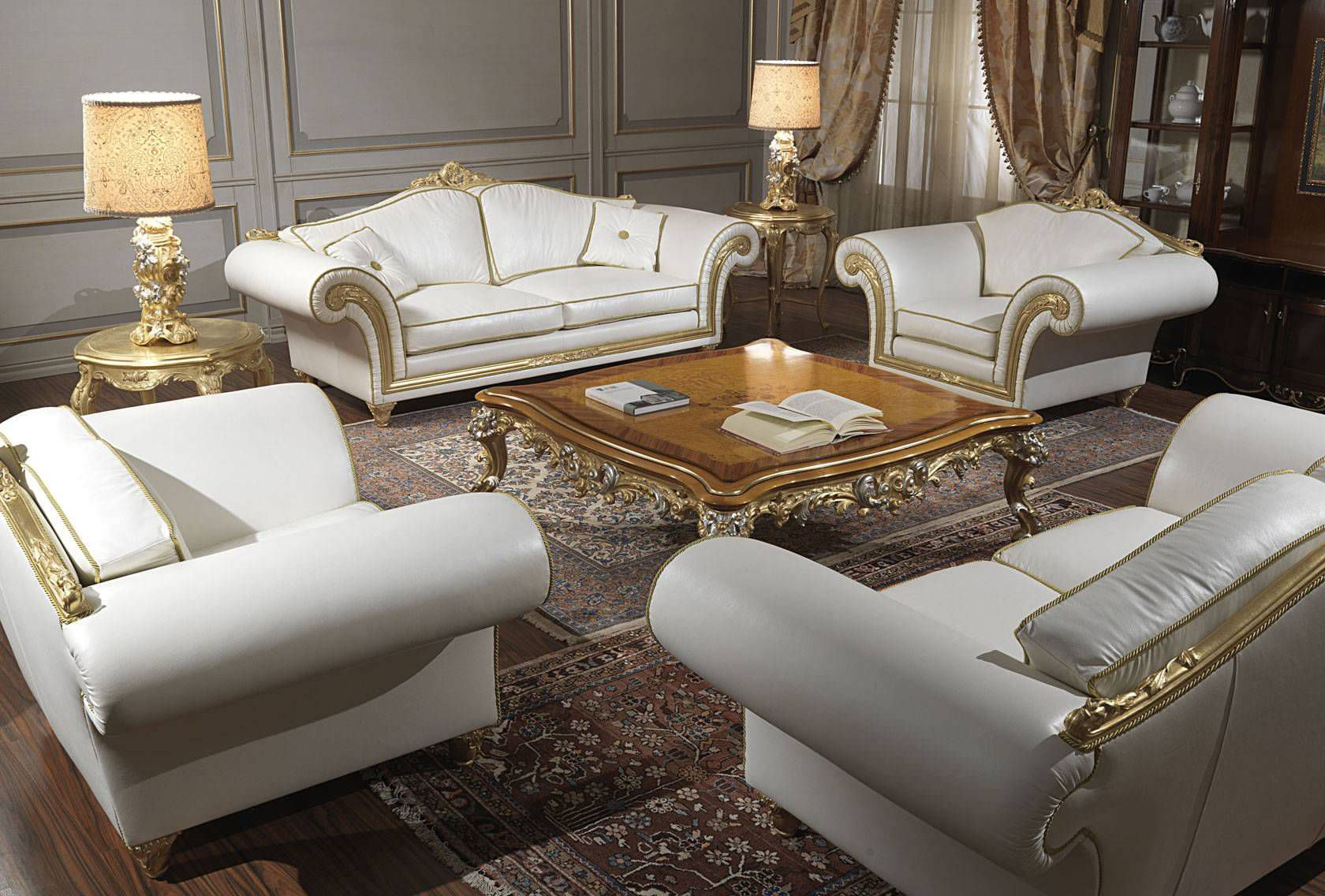 Imperial furniture - Classic Armchair Leather Imperial Vimercati Meda Luxury Classic Furniture