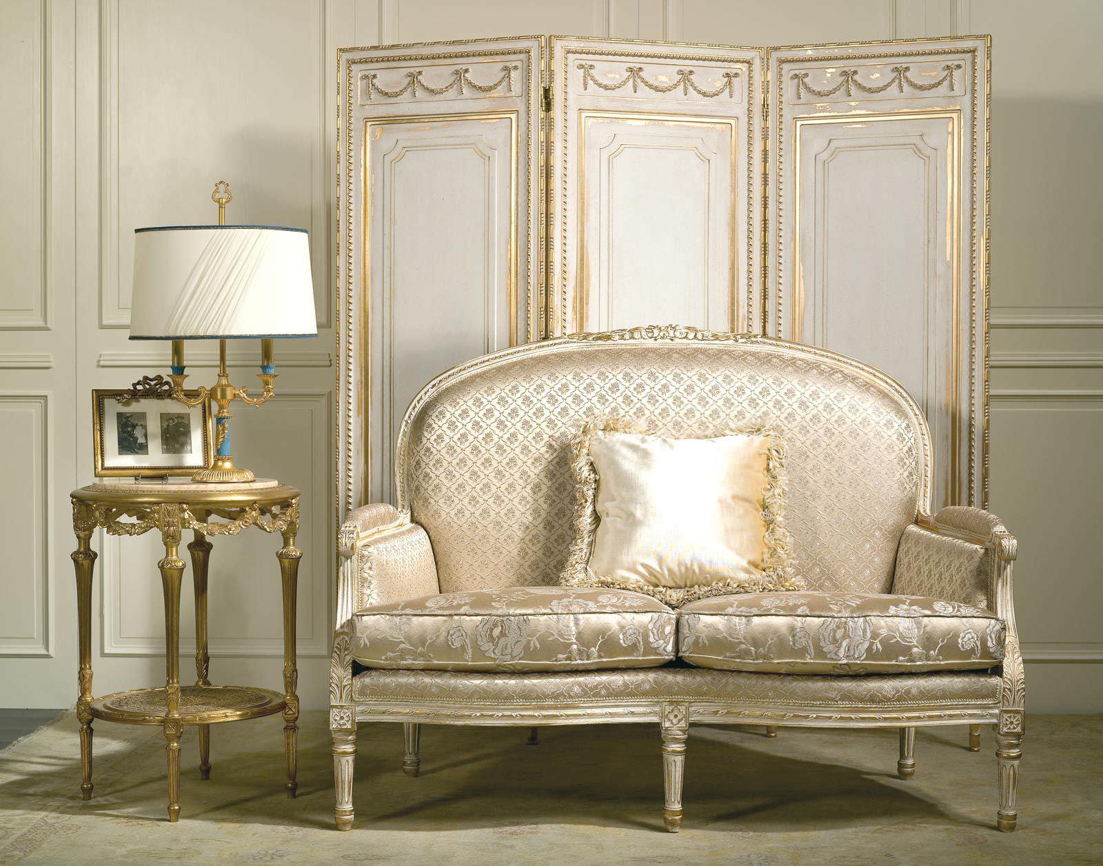 Classic Sofa / Fabric / 2 Seater / Beige RIALTO VIMERCATI MEDA LUXURY  CLASSIC FURNITURE