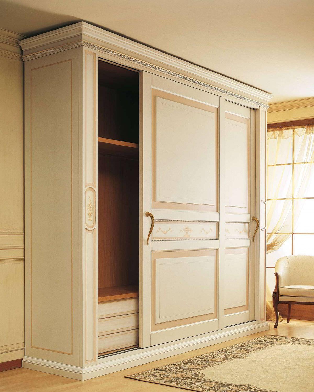 Traditional Wardrobe Wooden Sliding Door Canova Vimercati