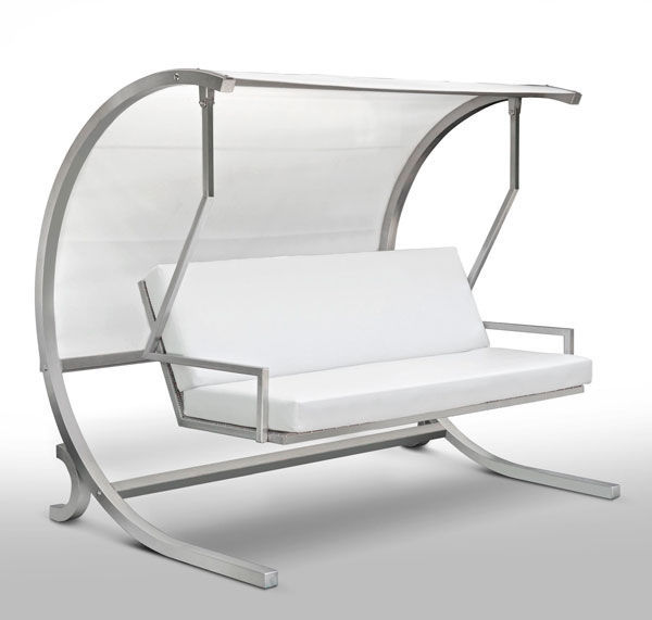 Hollywoodschaukel edelstahl  Canvas garden swing seat / stainless steel / commercial / self ...