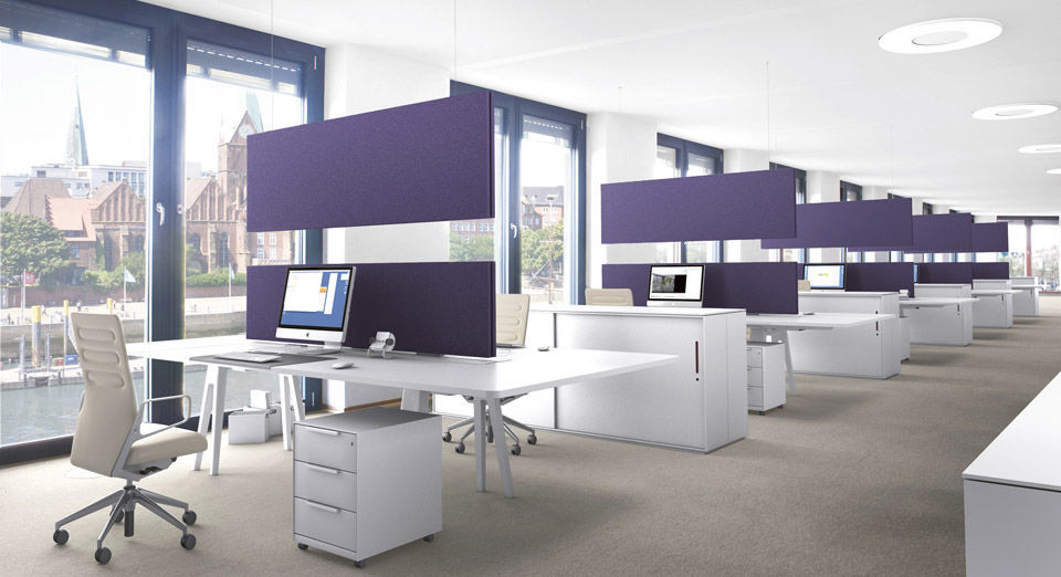 Interior acoustic panel textile design for offices
