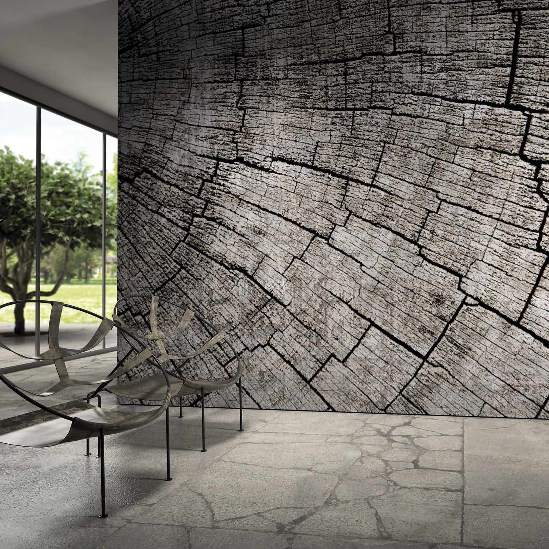 Contemporary wallpaper vinyl nature pattern wood look