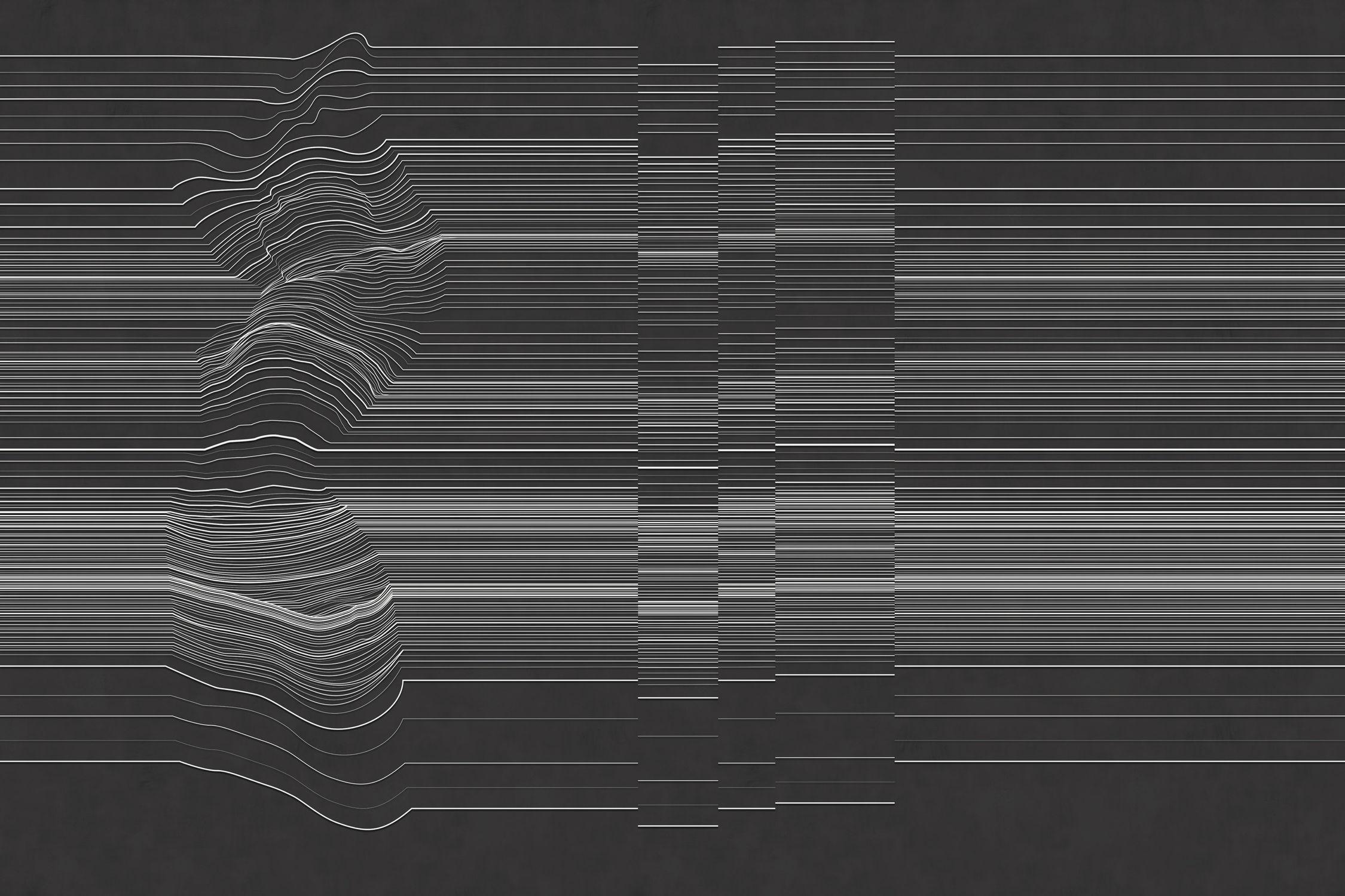 Contemporary Wallpaper Vinyl Striped 3D Effect BORDERLINE