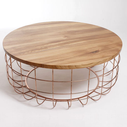 Superior Original Design Coffee Table / Walnut / White Oak / Steel   WIRE Good Ideas