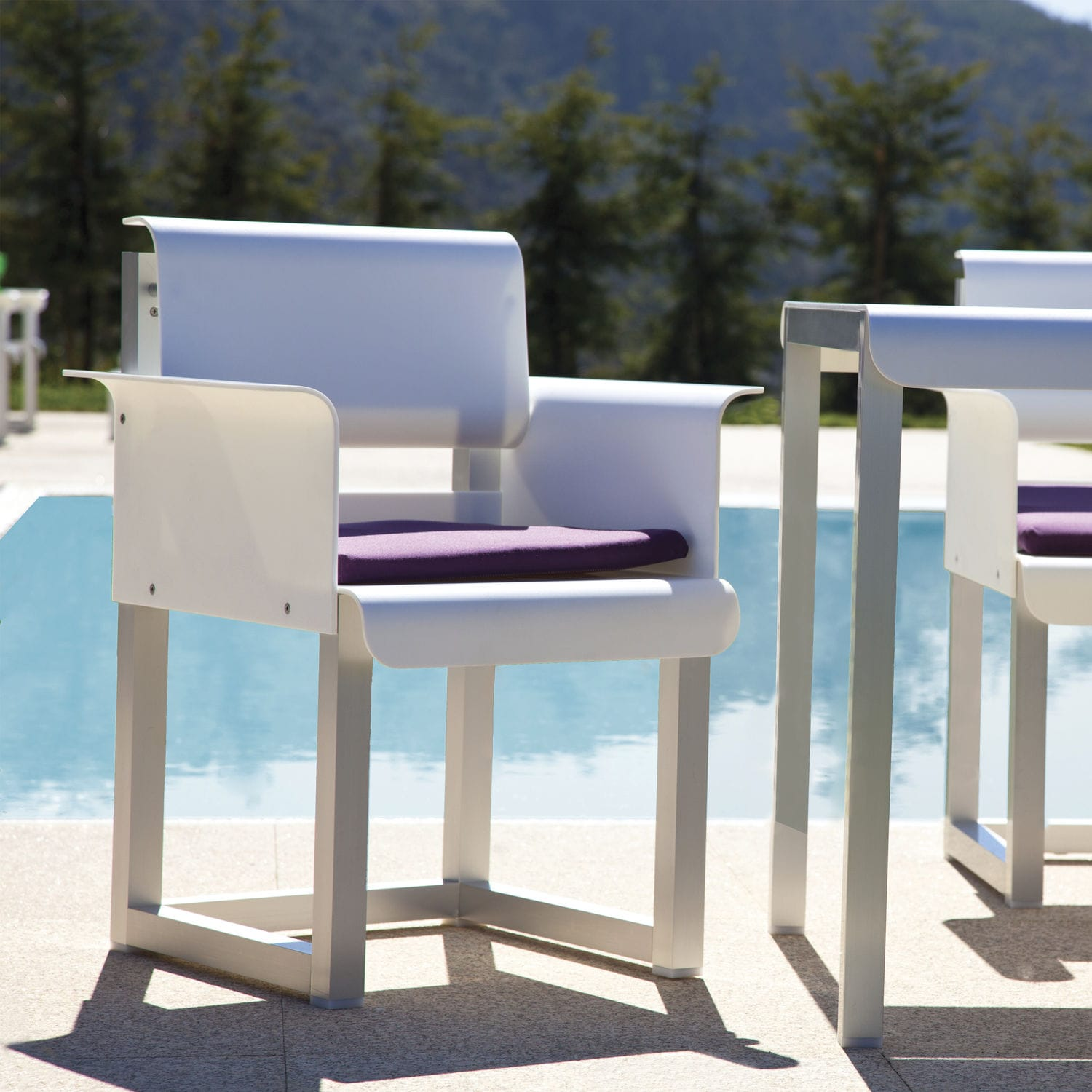 Contemporary Chair With Armrests Aluminum Outdoor West Coast By Carlos Aguiar